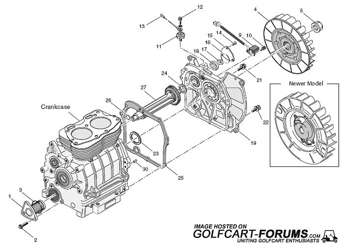 Ezgo Robin Eh29 And Eh35c  Gas  Engine Diagrams